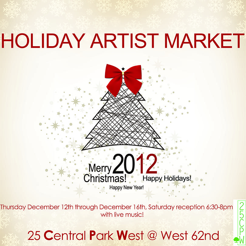 Holiday Artist Market @ 25CPW Gallery